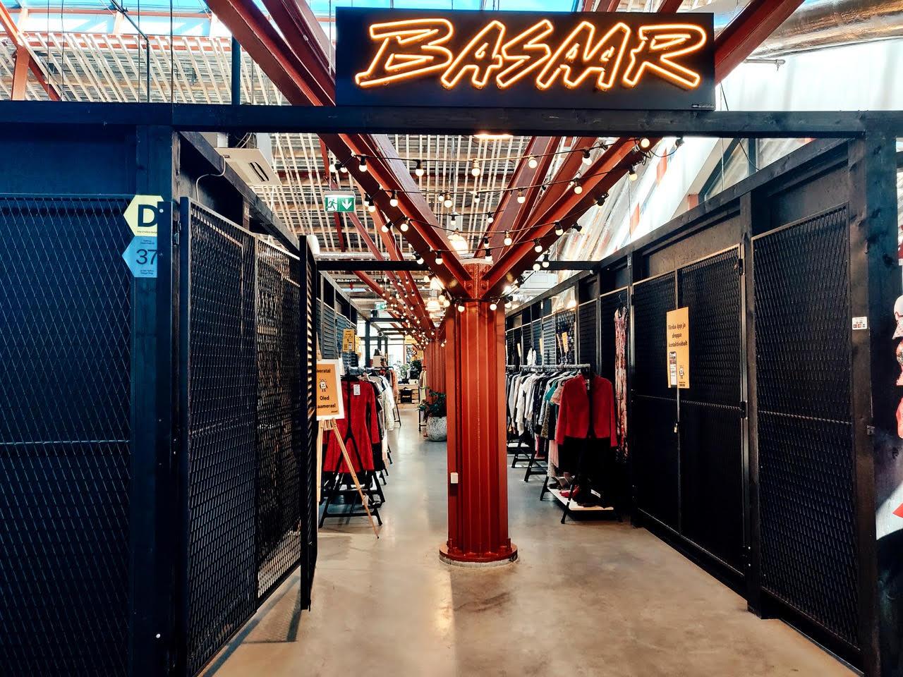 Balti Jaama Turul tegutseb kontaktivaba taaskasutuspood Basaar