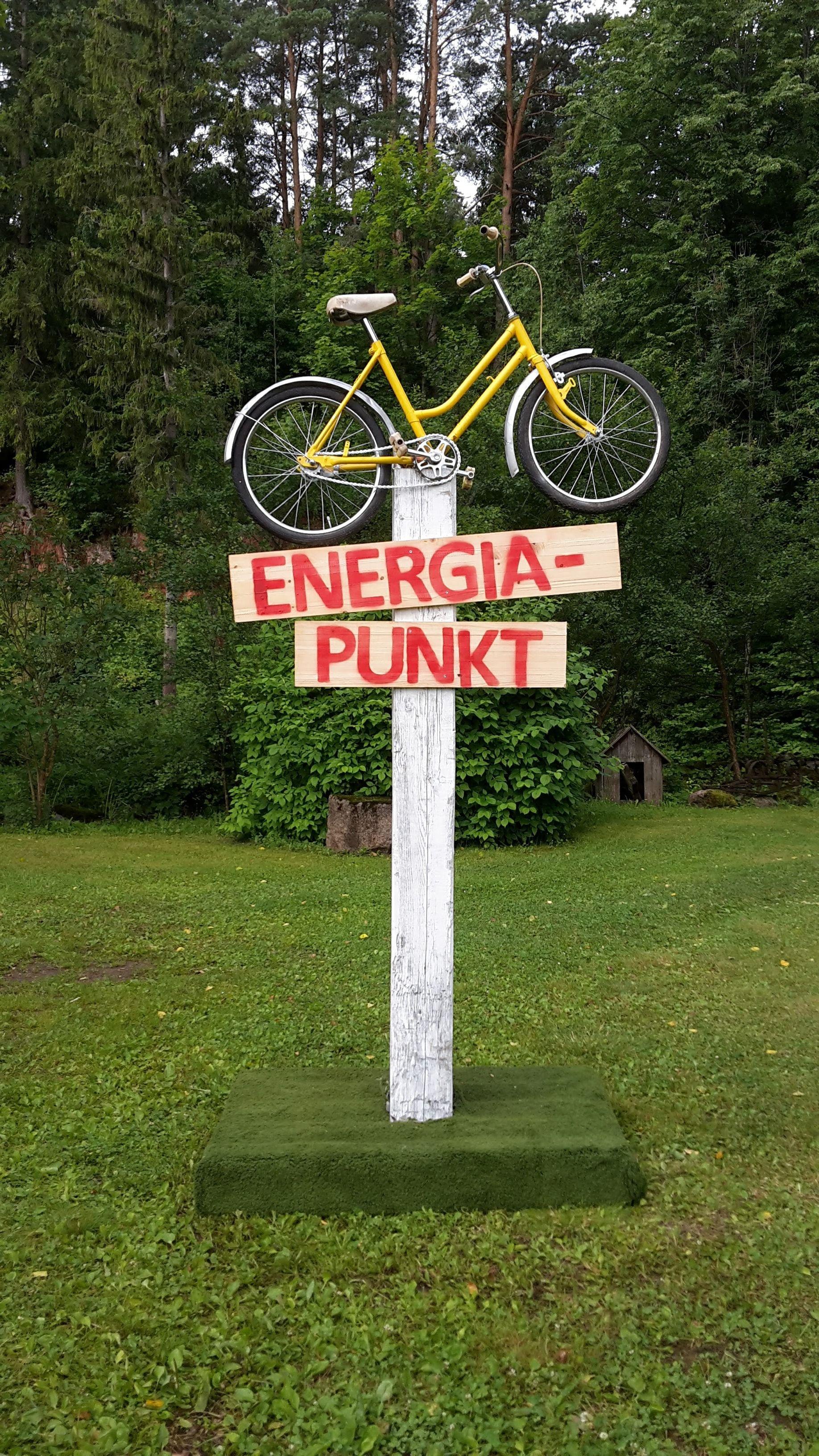 Energiapunkti viit Viljandi festivalil.Eliisa Saksing