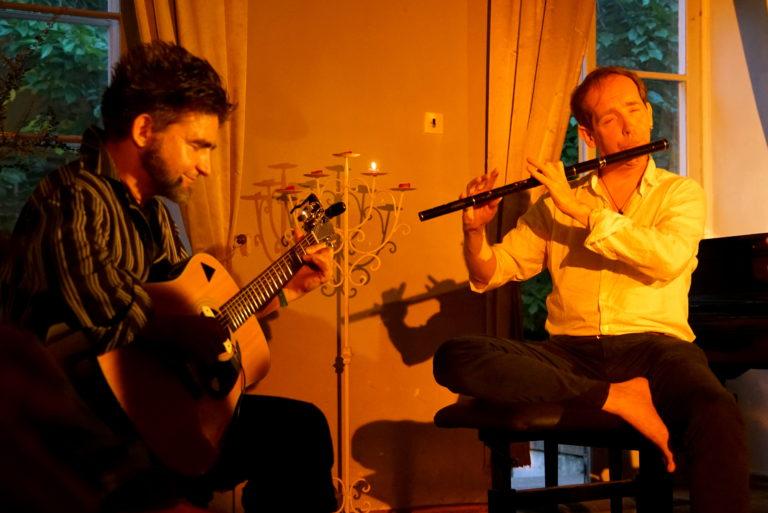 Jaak Johanson ja Dave Murphy Vanalinna muusikamajas. Foto: Aive Sarapuu