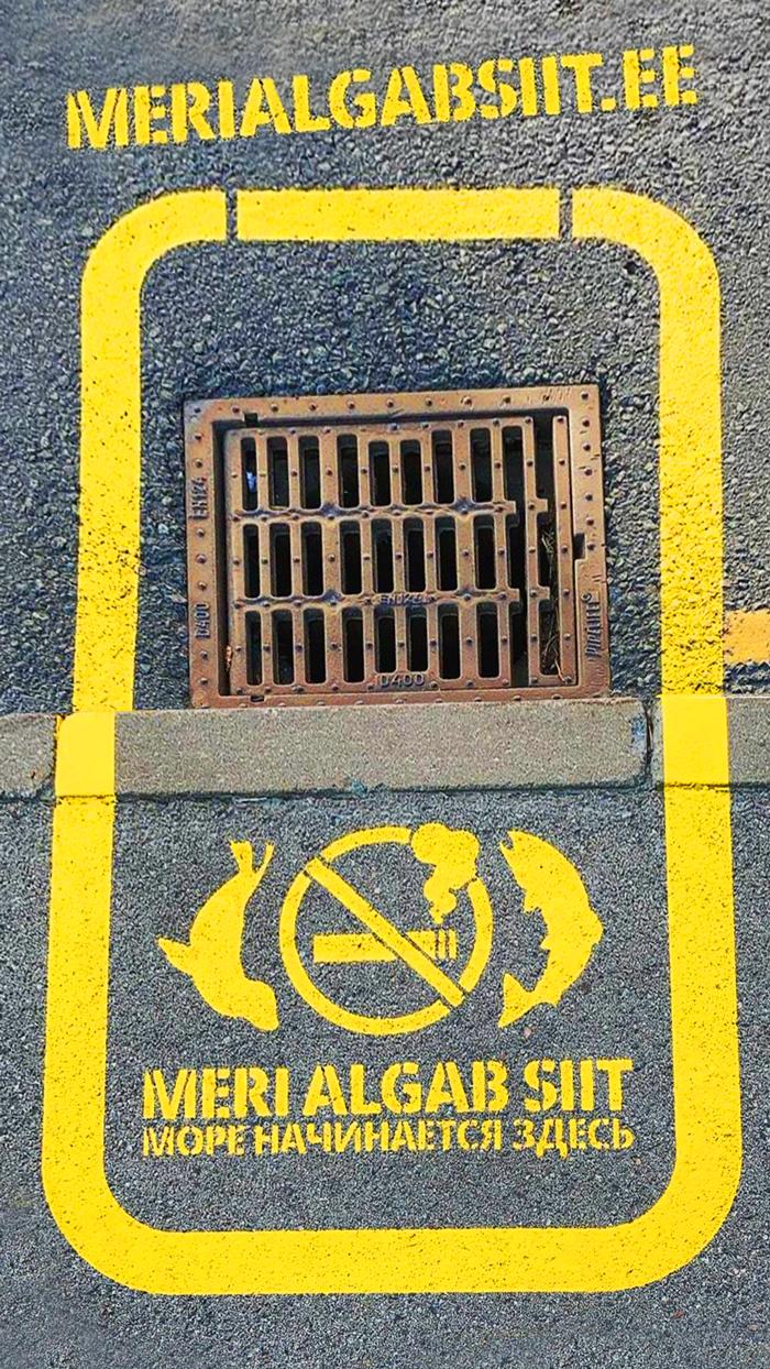 """Läänemere reostuse vähendamiseks algatati kaevuluukide märgistamise kampaania """"Meri algab siit"""""""
