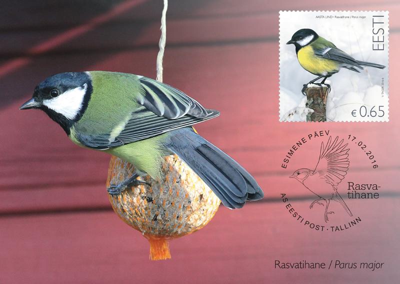 Ilmusid 2016. aasta linnu rasvatihase postmark, postkaart ja ümbrik