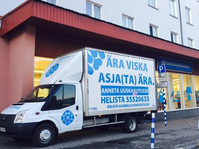 Oma vanad riided ja asjad saad viia Uuskasutuskeskusesse Tallinnas, Tartus, Narvas, Pärnus, Võrus ja Paides