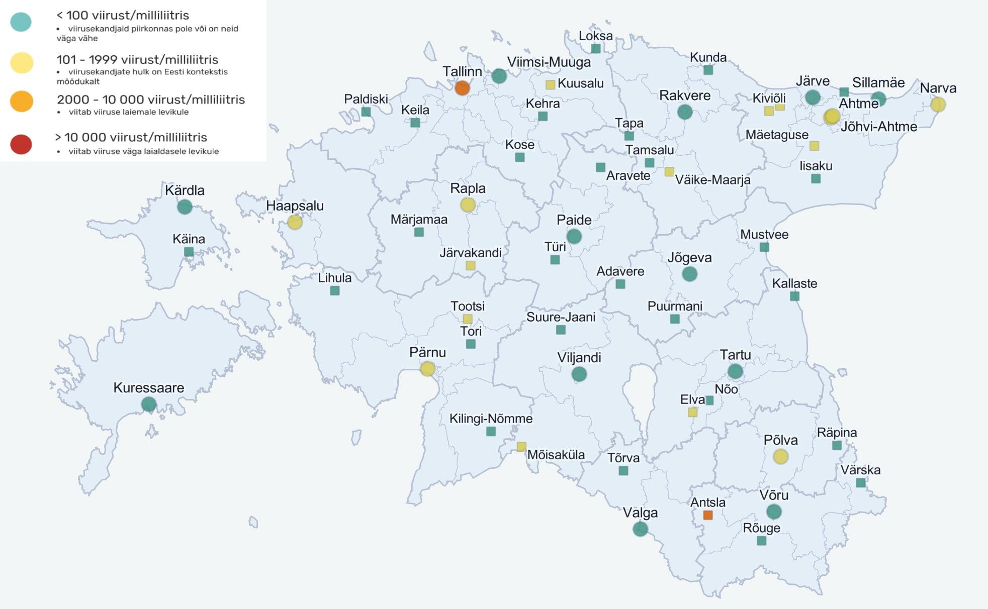 Reoveeuuringu tulemuste kaart on valdavalt roheline