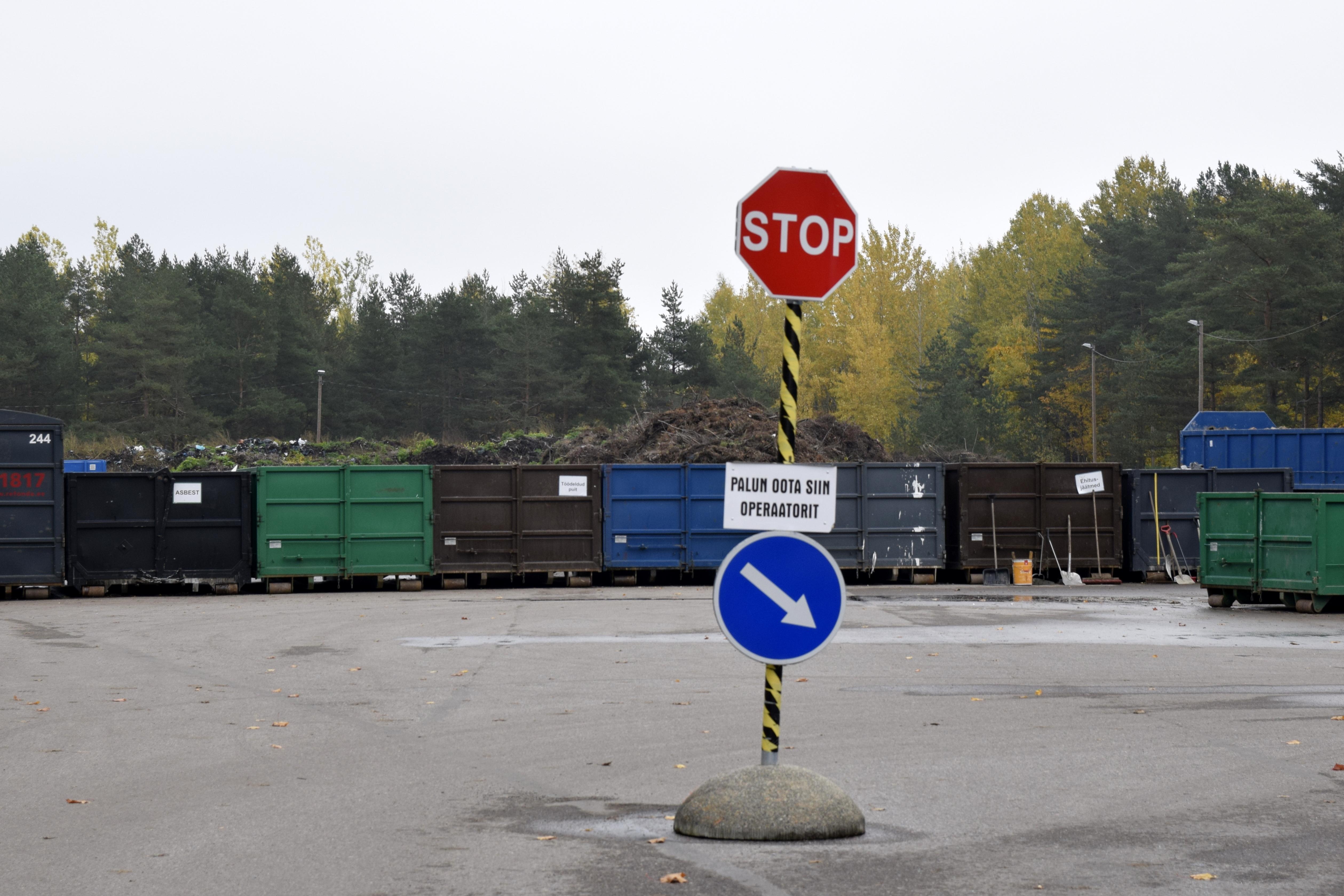 Rahumäe jäätmejaam Tallinnas.