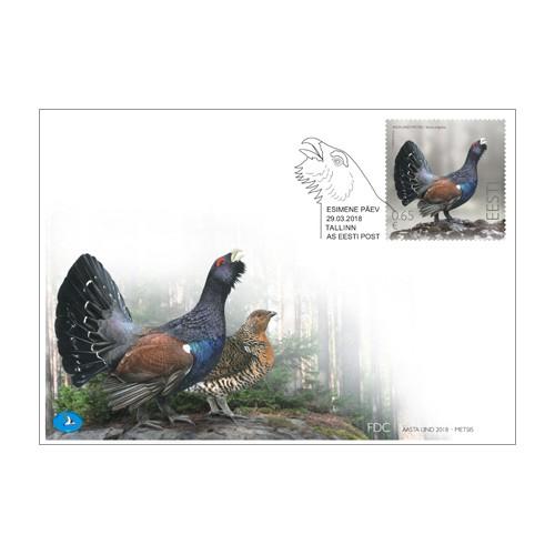 2018. aasta linnu metsise mark ja postkaart ilmuvad müügile 29. märtsil